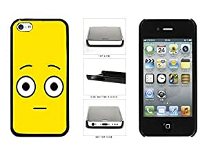 Bright Yellow Shocked Smiley Face Plastic Phone Case Back Cover Apple iPhone 5c