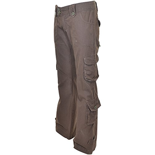 Marron Hipsters Militaires 45062 Qualitã© Femme Meilleure 100 Cargo Pantalons De Himalayans Molecule Brun Coton 6dwnqR778