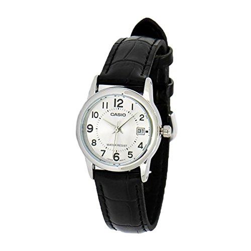 Casio Women's LTPV002L-7B Black Leather Quartz Watch