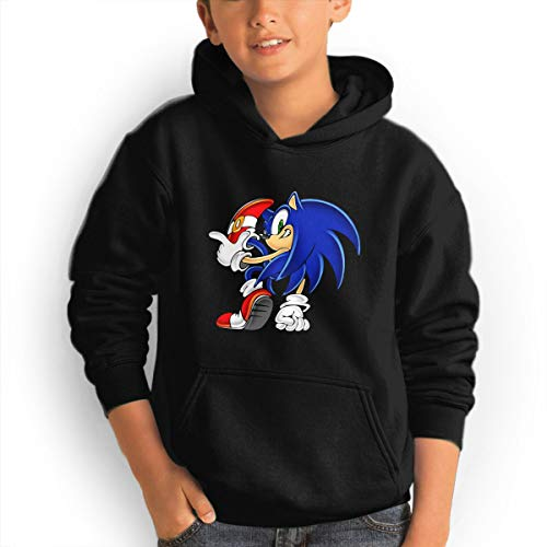 Portable Teen Youth Hoodies Cool Trendy Tshirt Hot Tops Long Sleeve Sweatshirt for Teens, Sonic -