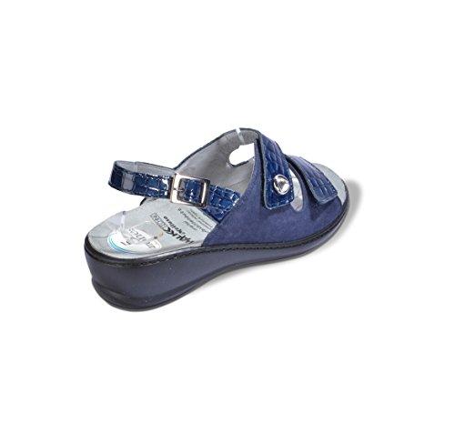 Melluso Sandali Massaggiante Q60203z Donna Blu Con Zones Reflex Plantare Estraibile OOwUR
