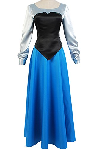 SIDNOR The Little Mermaid Ariel Cosplay Costume Princess Party Dress Ball Gown Outfit (Medium)