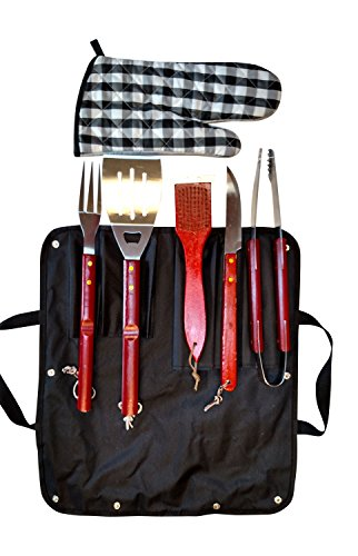 (The Perfect CampfireGrill 1085 5-Piece Barbecue Set and Carrying Tote)