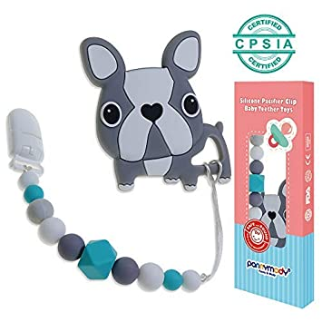 Jewelry & Accessories Beads & Jewelry Making 1 Piece Bpa Free 100% Food Grade Silicone Dog Beads Baby Chewable Animal Teething Beads For Pacifier Clip Or Soothing Products