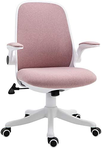 Vinsetto 360 Swivel Task Desk Office Chair Breathable Fabric Computer Rocker