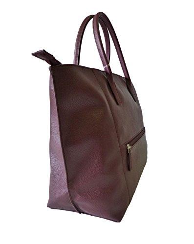 Lancaster Tasche Maya 517-19-Bordeaux Damen Shopper Handtasche Tragetasche (33x45,5x15cm)