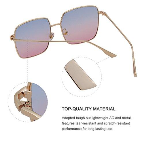 Vintage Vbiger Rosa Chic Gafas Sol para Sunglasses Mujer azul de Zq4ZxrXw8