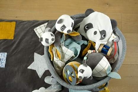 kikadu Schnullertuch Panda neutral ab Geburt GOTS Zertifiziert Schnullerhalter Knisterfolie 100/% Bio-Baumwolle 24cm