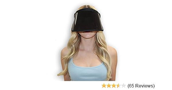 43e0ac2b Amazon.com: Solar Face Shield Sun Visor Hat Black Full Face Sun Protection  UPF 50 Post Peel Face Protector Sun Shield: Clothing