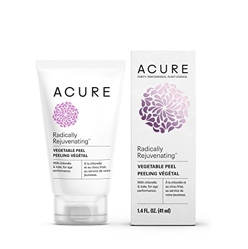Acure Radically Rejuvenating Vegetable Peel, 1.4 Fluid Ounce (Packaging May Vary) (Green Body Apple Peel)
