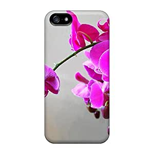 Waterdrop Snap-on Violet Orchid Cases For Ipod Touch 4