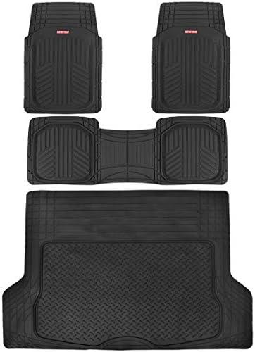 BDK OTX-M2006 FloorDefense Deep Dish Car Floor Mats and Cargo Liner – Heavy Duty Full Auto Protection – Black (OTX-M2004)