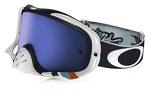 Oakley Crowbar MX Troy Lee Designs Adult Off-Road Motorcycle Goggles Eyewear - Corse White/Black Ice Iridium / One Size Fits - Design Oakleys
