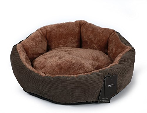 Cat Beds & Mats Super Cute Dog Bed Puppy Cats Beds Small Pet Soft Warm Pet Bed Round Pad Pet Cushion Gray U-shaped Pattern Cat Bed O10 Customers First Cat Supplies