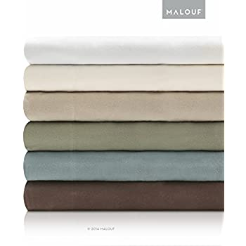 WOVEN Deluxe Portuguese Flannel Sheets - 3 Piece Set - Twin - Coffee