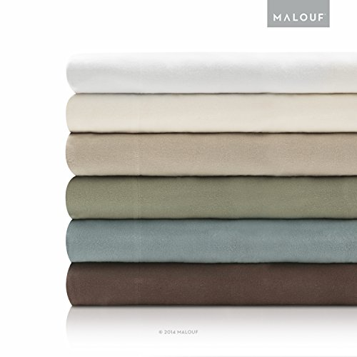 WOVEN Deluxe Portuguese Flannel Sheets - 4 Piece Set - Full - White ()