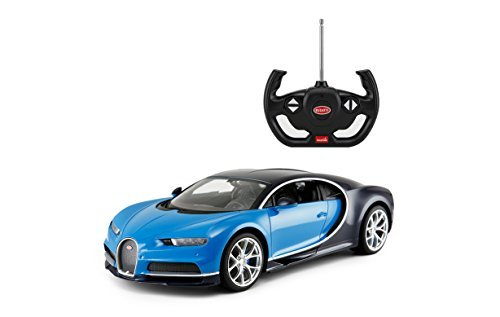 Rastar R/C Car 1:14 Scale Bugatti Chiron | Licensed Radio Remote Control  1/14 RTR Super Sports Car Model Blue