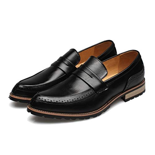 - Starttwin Men's Oxfords Shoes Slip-on Breathable Damping Lightweight Dress Loafer Shoes