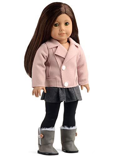 sweet dolly Doll Clothes Woolen Jacket Skirt Leggings Boots Outfits for 18 inch Dolls American Girl Doll