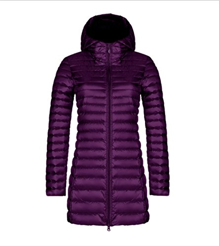 Coat Winter Colla Faux Outerwear L Womens Thicken Hooded Down Fur PURPLE Jacket Overcoat Slim Parka Warm Long AEU7E