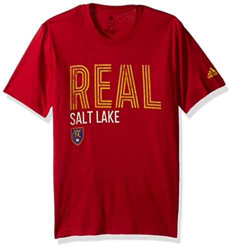 adidas MLS Real Salt Lake Adult Men Tri-Line Premium Cotton Tee, XX-Large, Victory ()