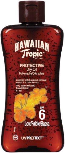 Hawaiian Tropic Protective Dry Oil LSF 6, 200 ml, 1er Pack (1 x 200 ml)