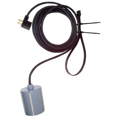 10-0033 Variable Float Switch Single Piggyback with 15 ft. Cord (230v)