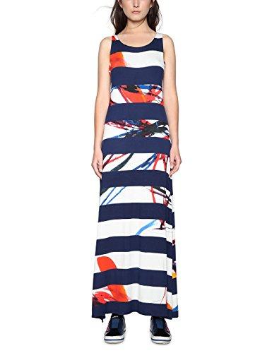 Mujer Desigual Vestido Vest navy 5000 Azul Para felipe Small HH6qwzT