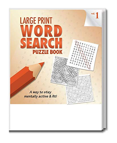 Safety Magnets Large Print Word Search Puzzle Books for Seniors in Bulk (25 Pack) - Volume 1