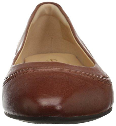 Clarks Women's Jeni Flat Mahogany Leather Loriann Ballet 0SqrP80