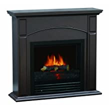 Quality Craft MM190P-2628CN Electric Fireplace Heater with 26-Inch Classically Styled Mantel, Chestnut Color
