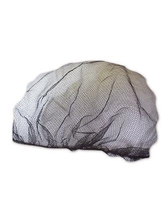 "Keystone 2020BN Brown Adjustable Cap Co Lightweight Nylon Mesh Disposable Hairnet, 20"" Diameter (Case of 1000)"