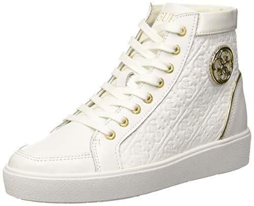 Bianco Alto Guess Donna white Collo White A Sneaker Grace xwwYqSB1