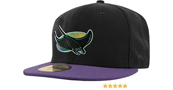 93418ea1602 Amazon.com   Tampa Bay Devil Rays Black Cooperstown 59FIFTY Fitted Hat    Sports Fan Baseball Caps   Sports   Outdoors