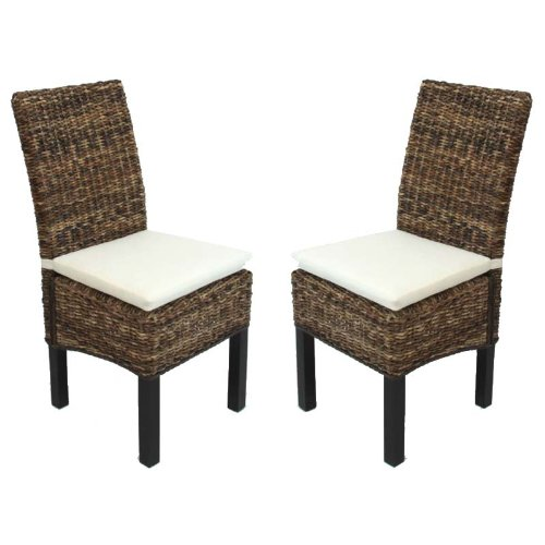 Set 6x sedia sala da pranzo M69 intreccio di banano ~ gambe scure ...