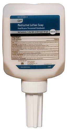 1l Refill Bottle - Steris CV Medicated Lotion Soap 1L 33.8oz SDS Wall Dispenser Refill Bottle Healthcare Personnel Handwash 1.05qt