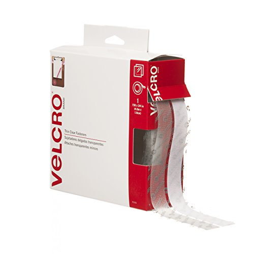 "075967913250 - VELCRO Brand Thin Fasteners Tape 15' x 3/4"" Tape - Clear carousel main 0"