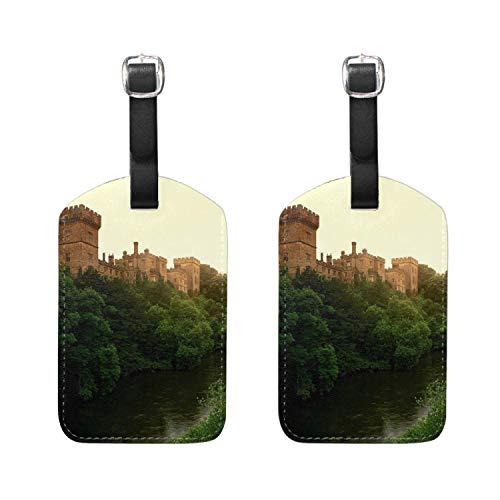 Mrsangelalouise Leather Lismore Castle County Waterford Ireland Print Luggage Tags Travel Baggage Labels Bag Tag 2 ()