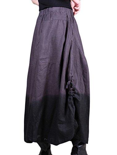Voguees Femme Gradient Culotte à jambe Large Pantalons, Noir, Thick-Matériel