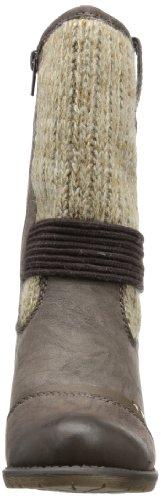 Rieker 910H4 - Botas tacón, talla: 36, color: marrón marrón - Braun (schoko/tabak/stein 25)