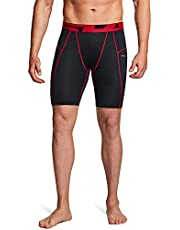 TSLA (Pack of 1, 2, 3) Men's Athletic Compression Shorts, Sports Performance Active Cool Dry Running Tights