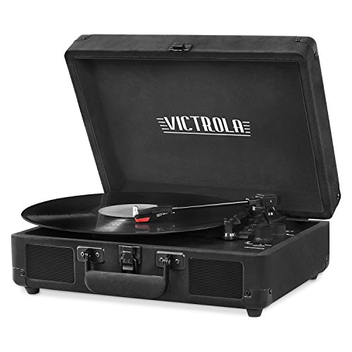 Victrola Vintage 3-Speed Bluetooth Suitcase Turntable with S