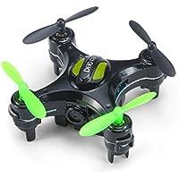 E-SCENERY Mini Remote Control 2.4G 6-Axis Gyro 4CH 3D Flip UFO Quadcopter, RC Micro RTF Drone With 2.0MP HD Camera, USB Rechargeable Battery (Black)