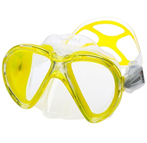 Mares X-Vu Liquid Skin Mask, Great for Scuba Divers, Yellow