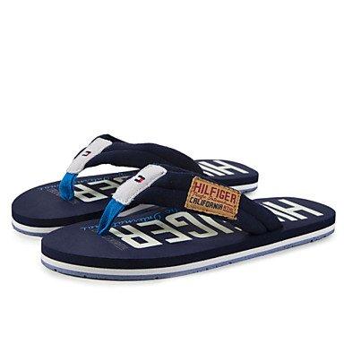 Zapatos de hombre casual zapatillas de tela negra/Marina Marina