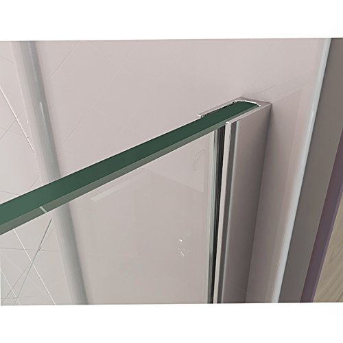 DreamLine Unidoor Plus 34 3/8 in. D x 35 in. W, Frameless Hinged Shower Enclosure, 3/8'' Glass, Chrome Finish by DreamLine (Image #6)