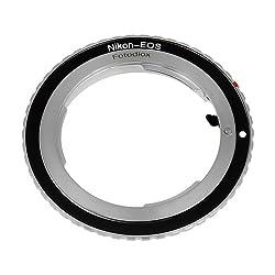 Fotodiox Lens Mount Adapter - Nikon Nikkor F Mount Dslr Lens To Canon Eos (Ef, Ef-s) Mount Slr Camera Body