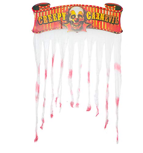 "Halloween Door Entrance Curtain, 55"" x 39"" Inches (140x99CM) Scary Halloween Party Decorations, Bloody Looking Door -"