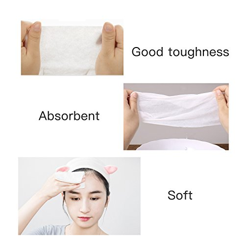 Facial Cotton Tissue Cotton Soft Towel Durable Multi-purpose Wipes for Cleaning Face, Makeup Remover, Baby Care, Dry Wet Amphibious 80Pcs 7.9inch×7.9inch by ZMBeauty (Image #4)