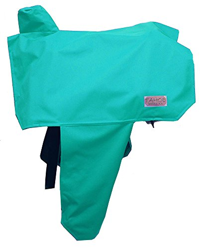 Tahoe Premium Nylon Waterproof Western Saddle Cover, Turquoise